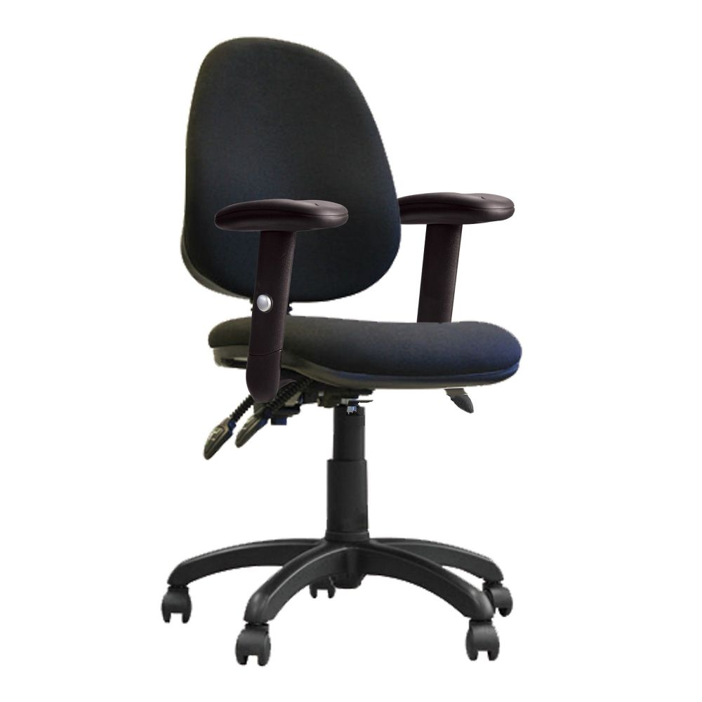 Java 300 Three Lever, High Back, Operator Chair, Height Adjustable Arms. Blue, Green, Red or Black